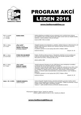 Program MěK-LEDEN 2016 - Městská knihovna v Bílině
