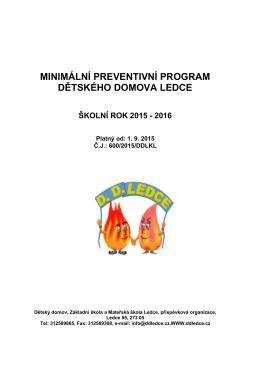 Minimální preventivní program 2015