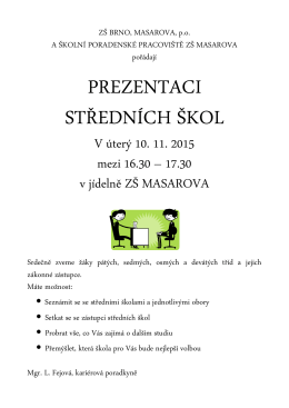 Pozvánka - ZŠ Masarova