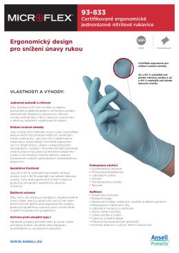 Ergonomický design pro snížení únavy rukou