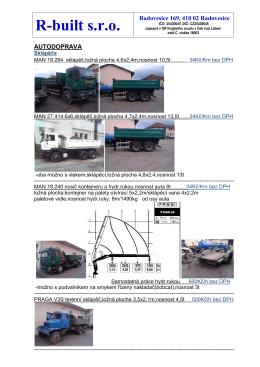 Nabídka Autodoprava+Mechanizace