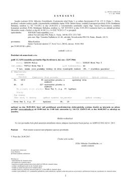 Usnesení k exekučnímu řízení č.j. 144 EX 12659/13-86