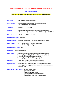Halový turnaj Lipník n.B., roč. 2005 a ml.