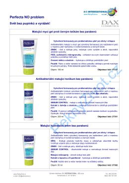 Karta výrobku 2015 PZ