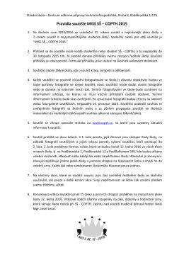 Pravidla - Centrum odborné přípravy technickohospodářské