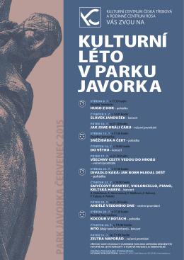 Program Kulturního léta v parku Javorka