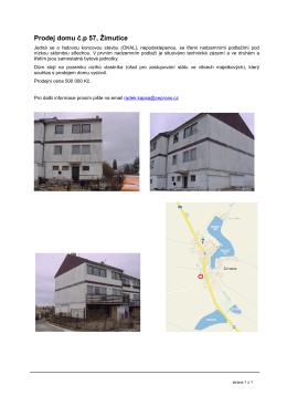 Prodej domu č.p 57, Žimutice