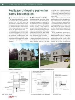 Realizace cihlového pasivního domu bez zateplení