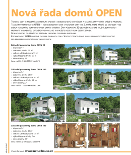 Časopis Dřevo a stavby - Nová řada domů OPEN
