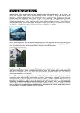 TYPOVÉ RODINNÉ DOMY - Muzeum umění a designu Benešov