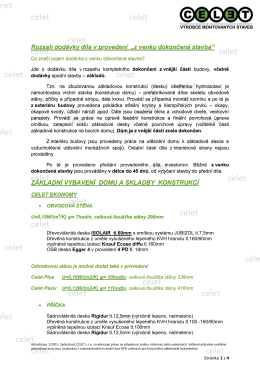 """rozsah dodávky """"k dokončení"""" v pdf"""
