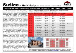 """""""BYDLENÍ NA HRÁZI"""" - Novostavba bytového domu o 12 bytech (1 +"""