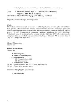 Akce : Přístavba domu č. pop. 277 – Obecní úřad Moutnice, na parc