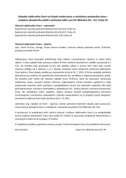 Výsledky vyběroveho rizeni – modernizace domu 415-417