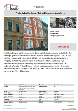 Prodej bytového domu - Ústí nad Labem, ul. Janáčkova