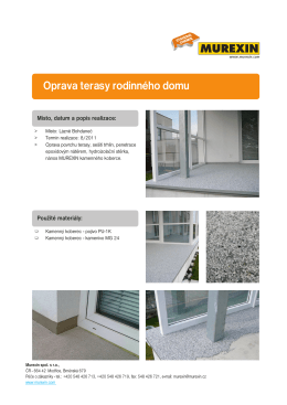 Oprava terasy rodinného domu