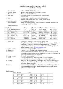 Soutěž družstev mužů 2015 - Tenisový klub LTC Mladá Boleslav