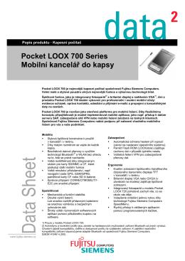 Pocket LOOX 700 Series Mobilní kancelář do kapsy