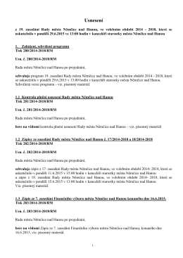 Usnesení - Němčice nad Hanou