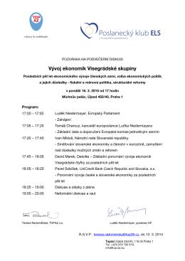 Vývoj ekonomik Visegrádské skupiny