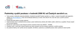Podmínky využití poukazu v hodnotě 2500 Kč od Českých