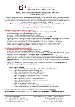 Dotace z fondů Evropské unie z Programu rozvoje venkova 2014