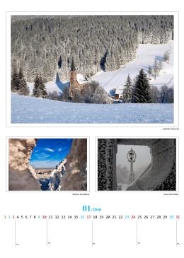 Kalendář na rok 2016