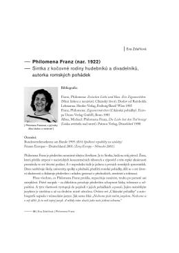 Philomena Franz - Romano Džaniben