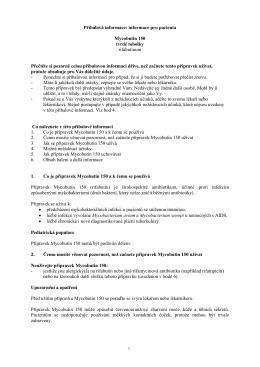 Příbalová informace: informace pro pacienta Mycobutin 150