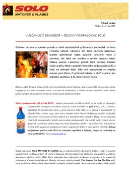 vulcanus z brambor – gelový podpalovač solo