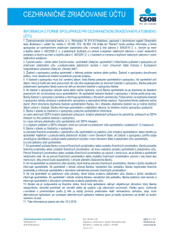 informácia o forme spolupráce pri cezhraničnom zriaďovaní