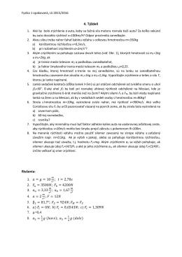 Dynamika hmotného bodu - Newtonove pohybové zákony