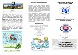 Pozvanka WS 2016 - Asociácia znalcov cestnej dopravy