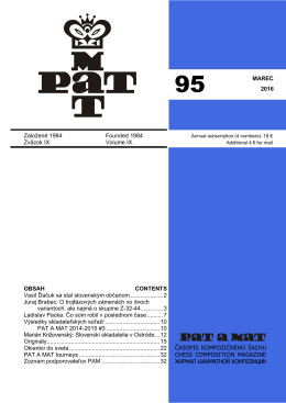 PaM 95 - Pat a mat - Slovenská organizácia kompozičného šachu