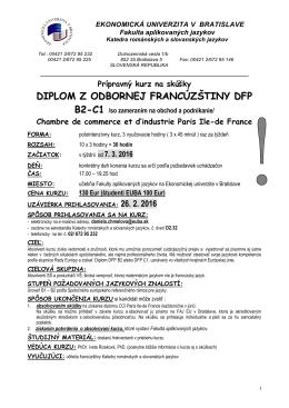 diplom z odbornej francúzštiny dfp b2-c1