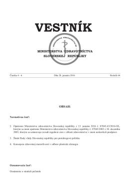 vestník - Zbierka zákonov