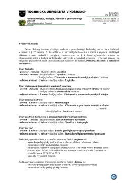 Výberové konanie - profesor, docenti, odb. asistenti na FBERG TUKE