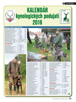 kalendár - Poľovníctvo a rybárstvo