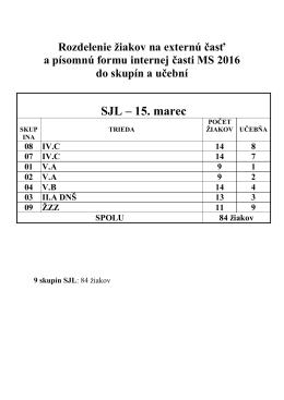 Harmonogram EČ a PFIČ pre PŠMK a PPMK
