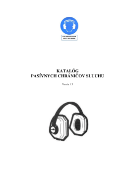 katalóg pasívnych chráničov sluchu