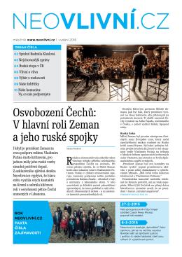 Osvobození Čechů: V hlavní roli Zeman a jeho