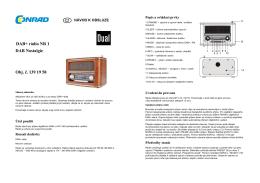 DAB+ rádio NR 1 DAB Nostalgie Obj. č. 139 19 58
