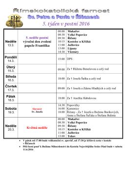 Ohlášky – tisková verze PDF