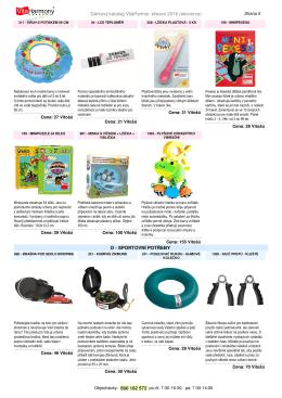 Dárkový katalog VitaPartner: březen 2016 (ekoverze)