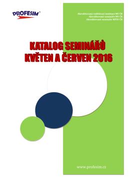 Katalog seminářů květen a červen 2016.