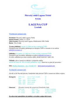 laguna cup - Statistika plavání