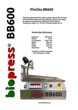 Plnička BB600