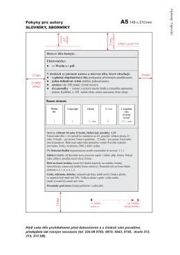 Slovníky a sborníky ve formátu A5