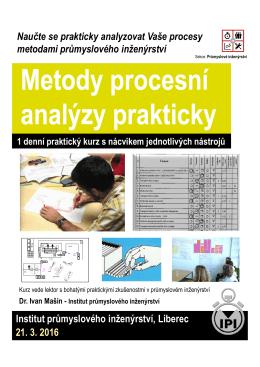 Metody procesní analýzy prakticky Metody procesní analýzy