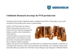 Uddeholm Denmark investuje do PVD povlakování